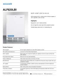 ALF620LBI Specifications Sheet