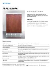 ALF620LBIFR Specifications Sheet