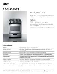 Brochure PRO246SSRT