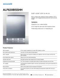 ALF620BISSHH Specifications Sheet