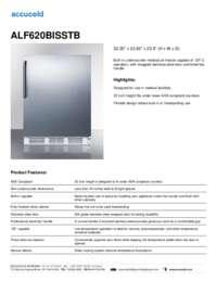 ALF620BISSTB Specifications Sheet