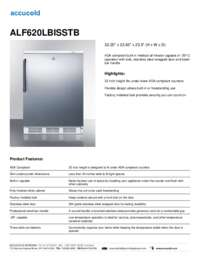 ALF620LBISSTB Specifications Sheet