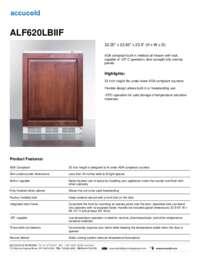ALF620LBIIF Specifications Sheet