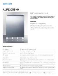 ALF620SSHH Specifications Sheet