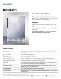 BI540LDPL Specifications Sheet