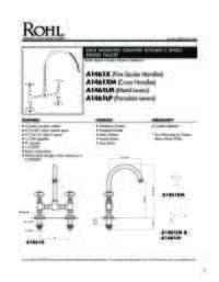 A1461 Spec Sheet