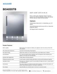 BI540SSTB Specifications Sheet