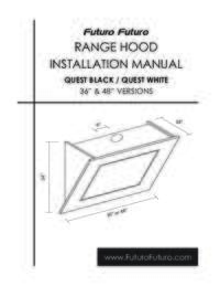 Quest Wall Range Hood Installation Manual