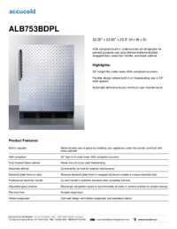 ALB753BDPL Specifications Sheet
