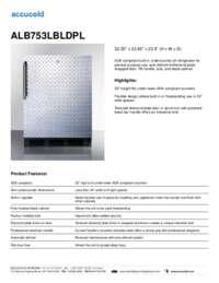 ALB753LBLDPL Specifications Sheet