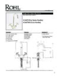 A14672 Spec Sheet