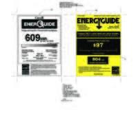 LNXS30866 Energy Guide Label