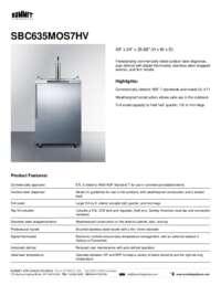 Brochure SBC635MOS7HV