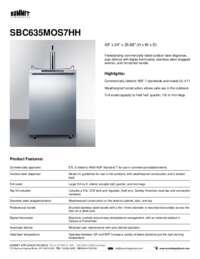 Brochure SBC635MOS7HH