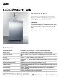 Brochure SBC635MOS7HHTWIN