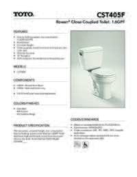CST405F Spec Sheet