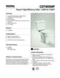 CST405MF Spec Sheet