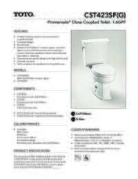 CST423SF(G) Spec Sheet