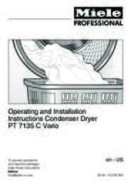 Operating and Installation Instructions