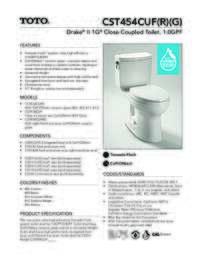 CST454CUF Spec Sheet