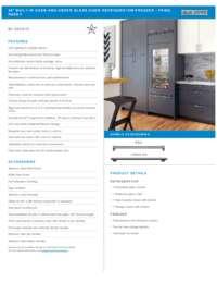 Flush Installation Specifications Sheet