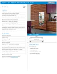 Flush Inset Installation Specifications Sheet
