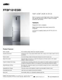 Brochure FFBF181ESBI