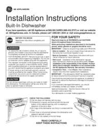 GE Installation Instructions