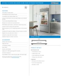 Stainless Steel Model Specifications Sheet
