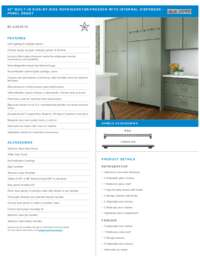 Panel Ready Flush Inset Specifications Sheet