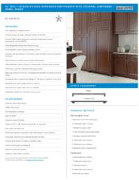 Panel Ready Standard Installation Specifications Sheet
