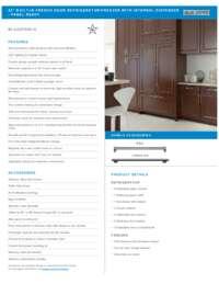 Panel Ready Flush Inset Spec Sheet