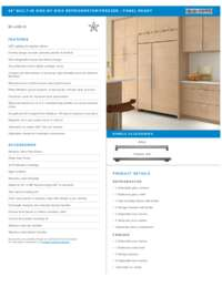 Panel Ready Flush Inset Installation Specifications Sheet
