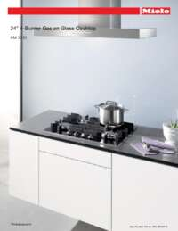 KM 3010 Glass Gas Cooktop Spec