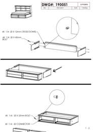 Bedside Storage Bed Assembly