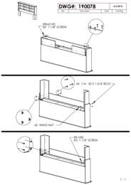 Bookcase Headboard Assembly