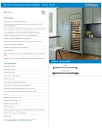 Panel Ready Model Flush Inset Installation Specifications Sheet