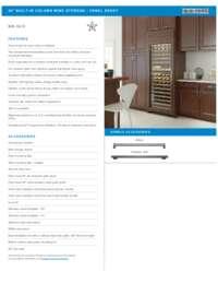 Panel Ready Model Specifications Sheet