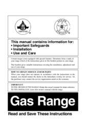 Gas Ranges Use and Care