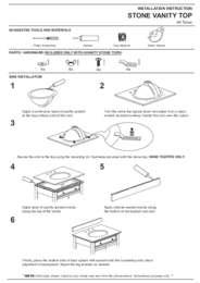 Vanity Top Installation Guide