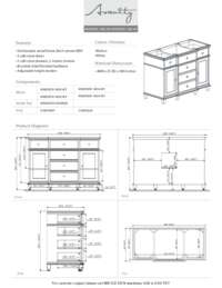48 in. Vanity Specification Sheet