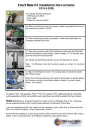 Heart Rate Installation Kit
