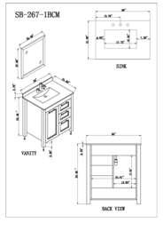 Sink Vanity Specification Sheet