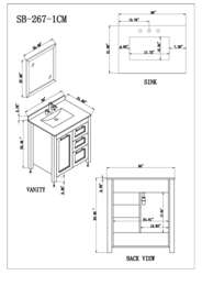 Sink Vanity Specification Sheet