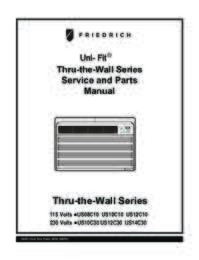 Unfit Thr the Wall Series Service and Parts Manual