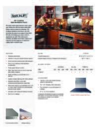 30 Inch Model Specifications Sheet