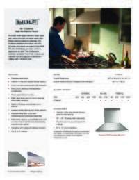 36 Inch Model Specifications Sheet