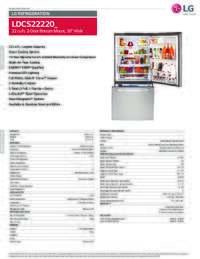 Lg Ldcs22220s 30 Inch Bottom Freezer Refrigerator With 22
