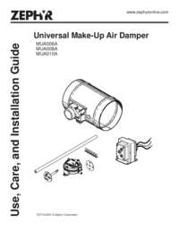 Make Up Air Damper Manual