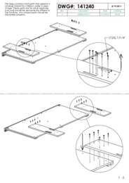 Panel and Storage Bed Assembly